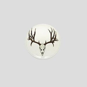 Buck deer skull Mini Button