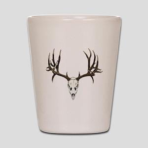Buck deer skull Shot Glass