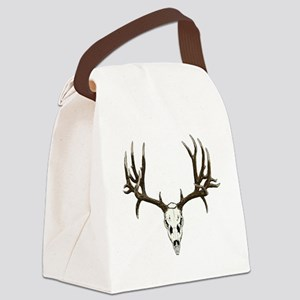 Buck deer skull Canvas Lunch Bag