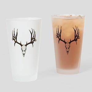 Buck deer skull Drinking Glass