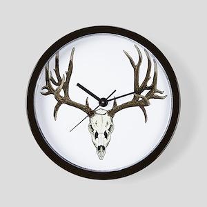 Buck deer skull Wall Clock