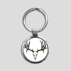 Buck deer skull Round Keychain