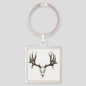 Buck deer skull Square Keychain