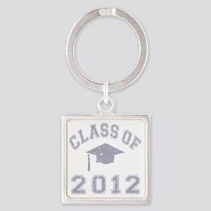 CO2012 Cap Gray Distressed Square Keychain