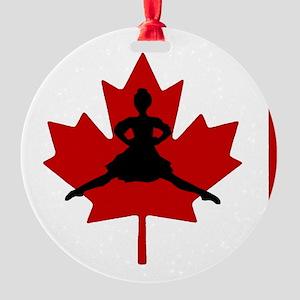 Maple Leap Round Ornament