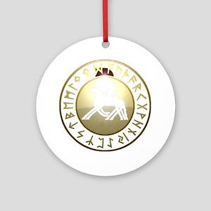 sleipnir rune shield Round Ornament