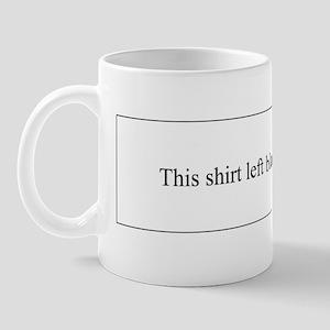 Shirt Left Blank Mug