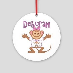 deborah-g-monkey Round Ornament