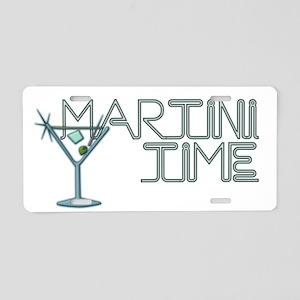 Martini Time BLK Aluminum License Plate
