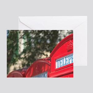 Style Telephone Booths. George's, St Greeting Card
