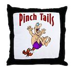 Pinch Tails Crawfish Throw Pillow