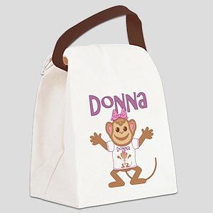 donna-g-monkey Canvas Lunch Bag