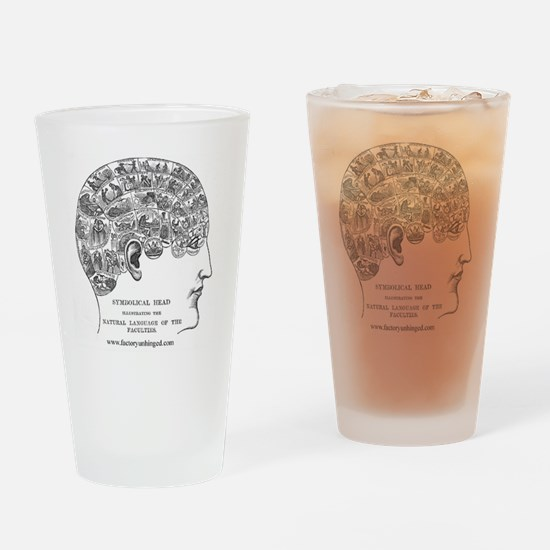Symbolical Head Drinking Glass