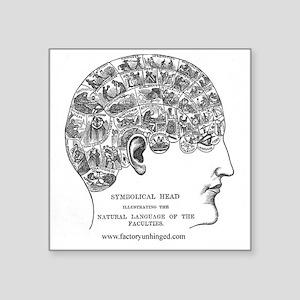 """Symbolical Head Square Sticker 3"""" x 3"""""""