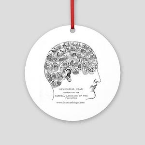 Symbolical Head Round Ornament