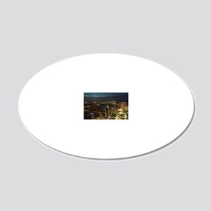 Surfers Paradise 20x12 Oval Wall Decal