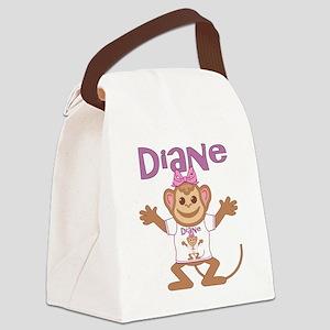 diane-g-monkey Canvas Lunch Bag