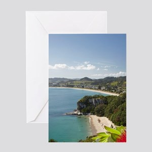 Lonely Bay and Cooks Beach Greeting Card