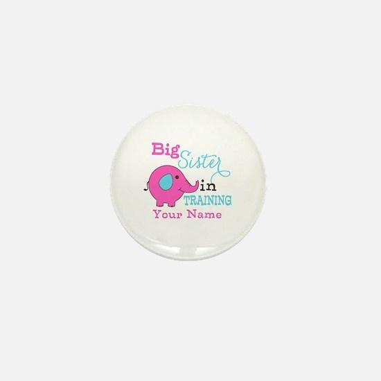 Big Sister in Training - Personalized Mini Button