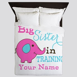 Big Sister in Training - Personalized Queen Duvet
