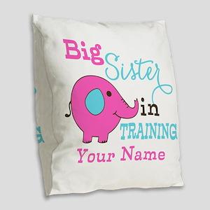 Big Sister in Training - Personalized Burlap Throw