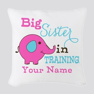 Big Sister in Training - Personalized Woven Throw