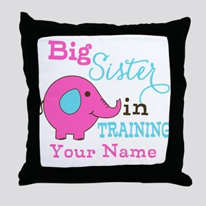 Big Sister in Training - Personalized Throw Pillow