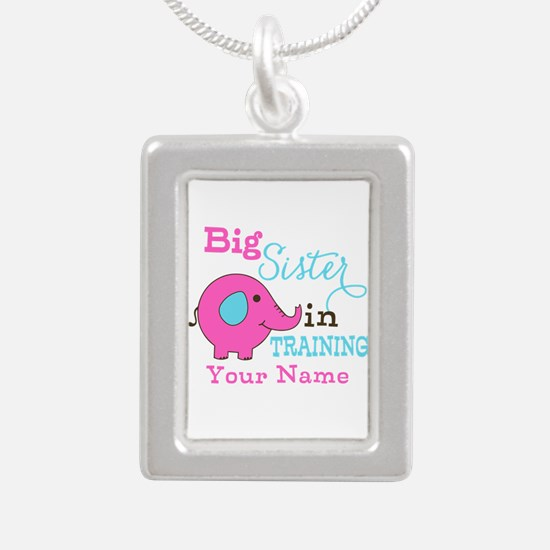 Big Sister in Training - Personalized Silver Portr