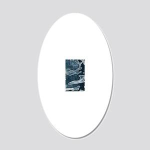 Blue Camoflage 20x12 Oval Wall Decal