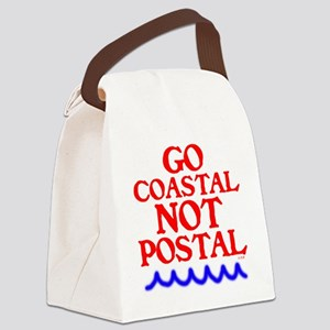 GO COASTAL-NOT POSTAL Canvas Lunch Bag