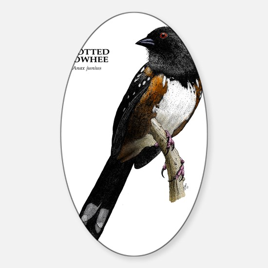 Spotted Towhee Sticker (Oval)
