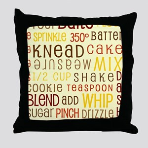 Lets Get Baking! Throw Pillow