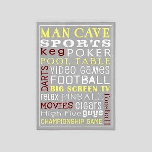 Man Cave 5'x7'Area Rug