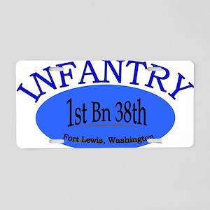 1st Bn 38th Infantry cap1 Aluminum License Plate