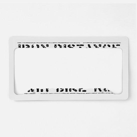 ironman License Plate Holder