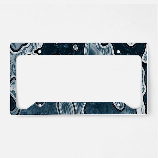 Blue Camouflage License Plate Holder