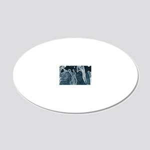 Blue Camouflage 20x12 Oval Wall Decal