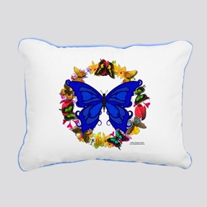 Butterfly Wreath Rectangular Canvas Pillow