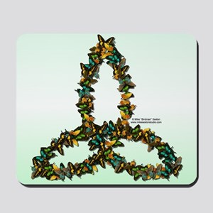 Butterfly Triquetra Mouse Pad