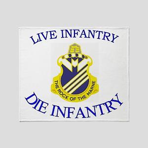 1st Bn 38th Infantry cap3 Throw Blanket