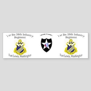 1st Bn 38th Infantry mug1 Sticker (Bumper)