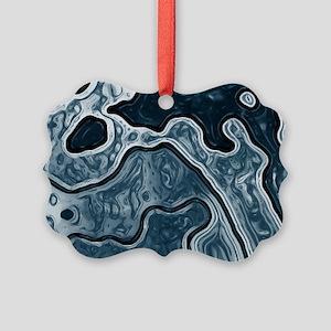 Blue Camo Picture Ornament