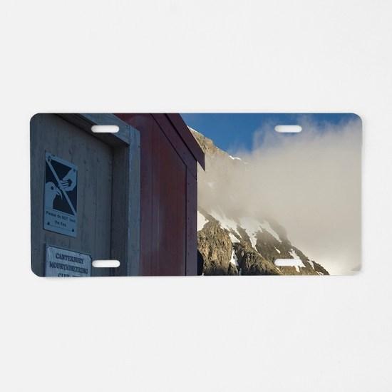 Arthurs Pass National Park. Aluminum License Plate