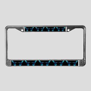 Hummingbird Black License Plate Frame