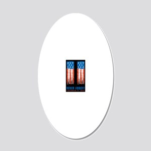 911_NEVERFORGET_9X12 20x12 Oval Wall Decal