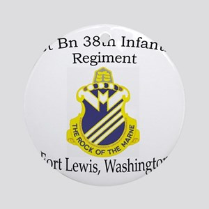 1st Bn 38th Infantry Round Ornament