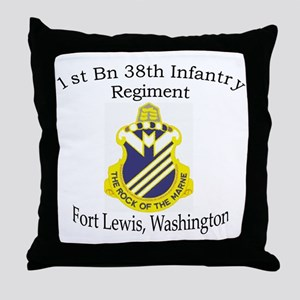 1st Bn 38th Infantry Throw Pillow