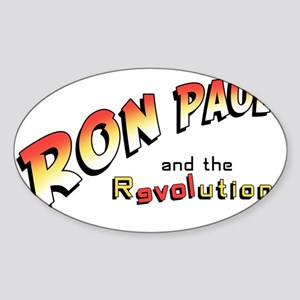 Ron-paul-jones-cut Sticker (Oval)