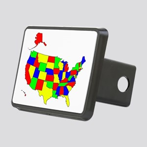 Map of America VII Rectangular Hitch Cover