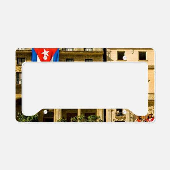 Picturesque Plaza de St. Fran License Plate Holder